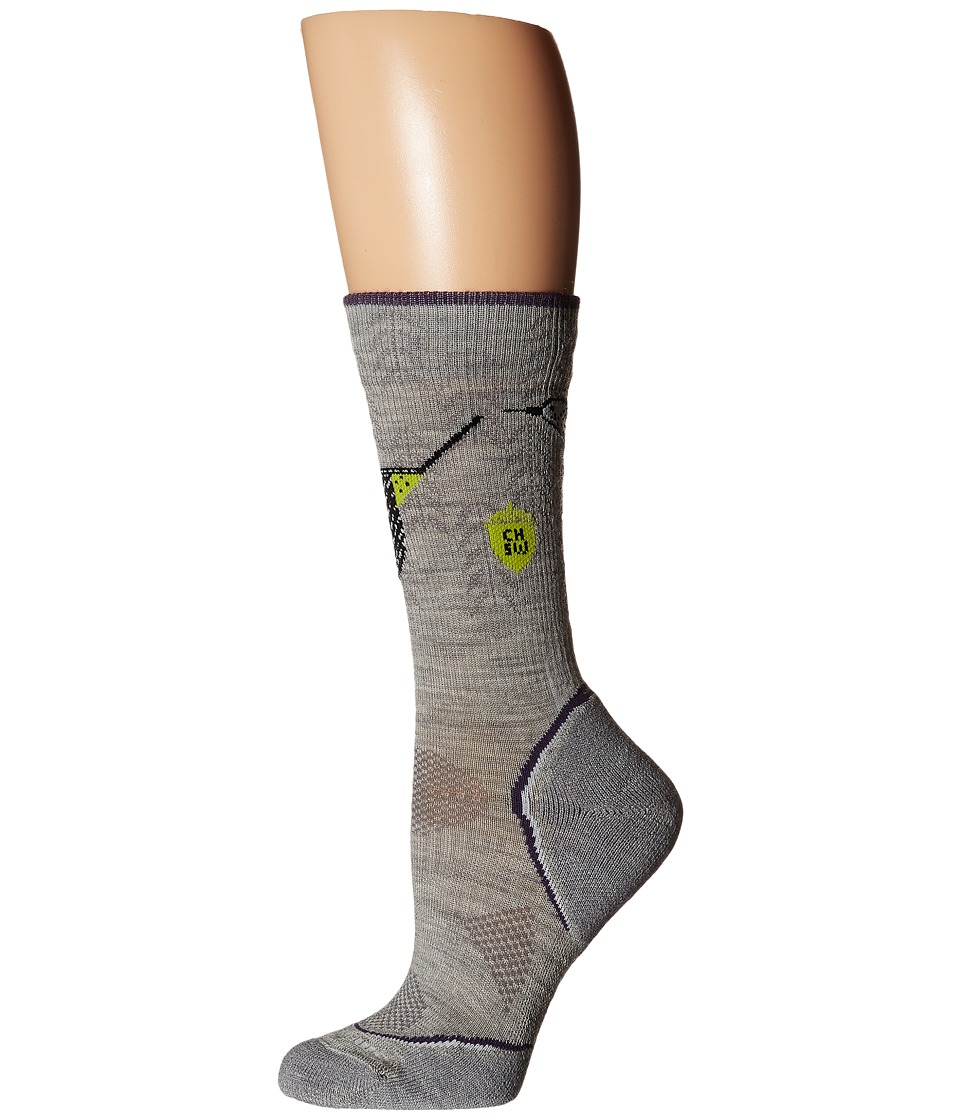 Smartwool - PhD Outdoor Light Crew: Charley Harper National Park Poster Canyon Country (Ash) Women's Crew Cut Socks Shoes