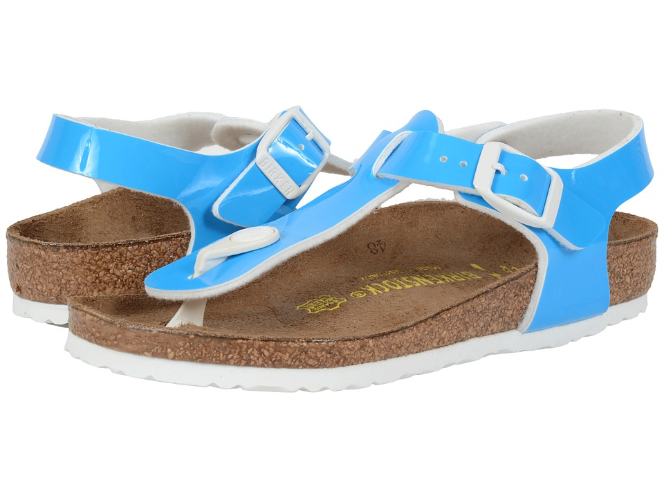 Birkenstock Kids Kairo (Little Kid/Big Kid) (Neon Blue Patent Birko-Flor ) Girls Shoes