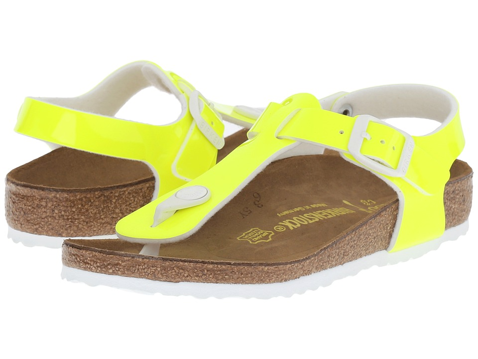 Birkenstock Kids Kairo (Little Kid/Big Kid) (Neon Yellow Patent Birko-Flor ) Girls Shoes