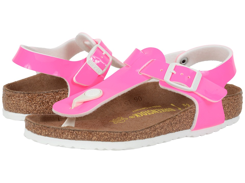 Birkenstock Kids - Kairo (Little Kid/Big Kid) (Neon Pink Patent Birko-Flor ) Girls Shoes