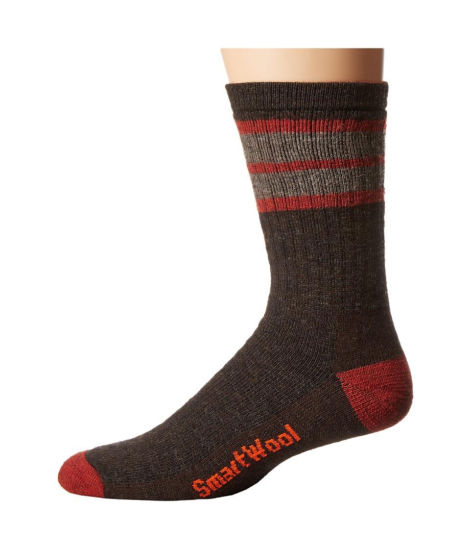 Smartwool - Striped Hike Medium Crew (Chestnut/Moab Rust) Men's Crew Cut Socks Shoes