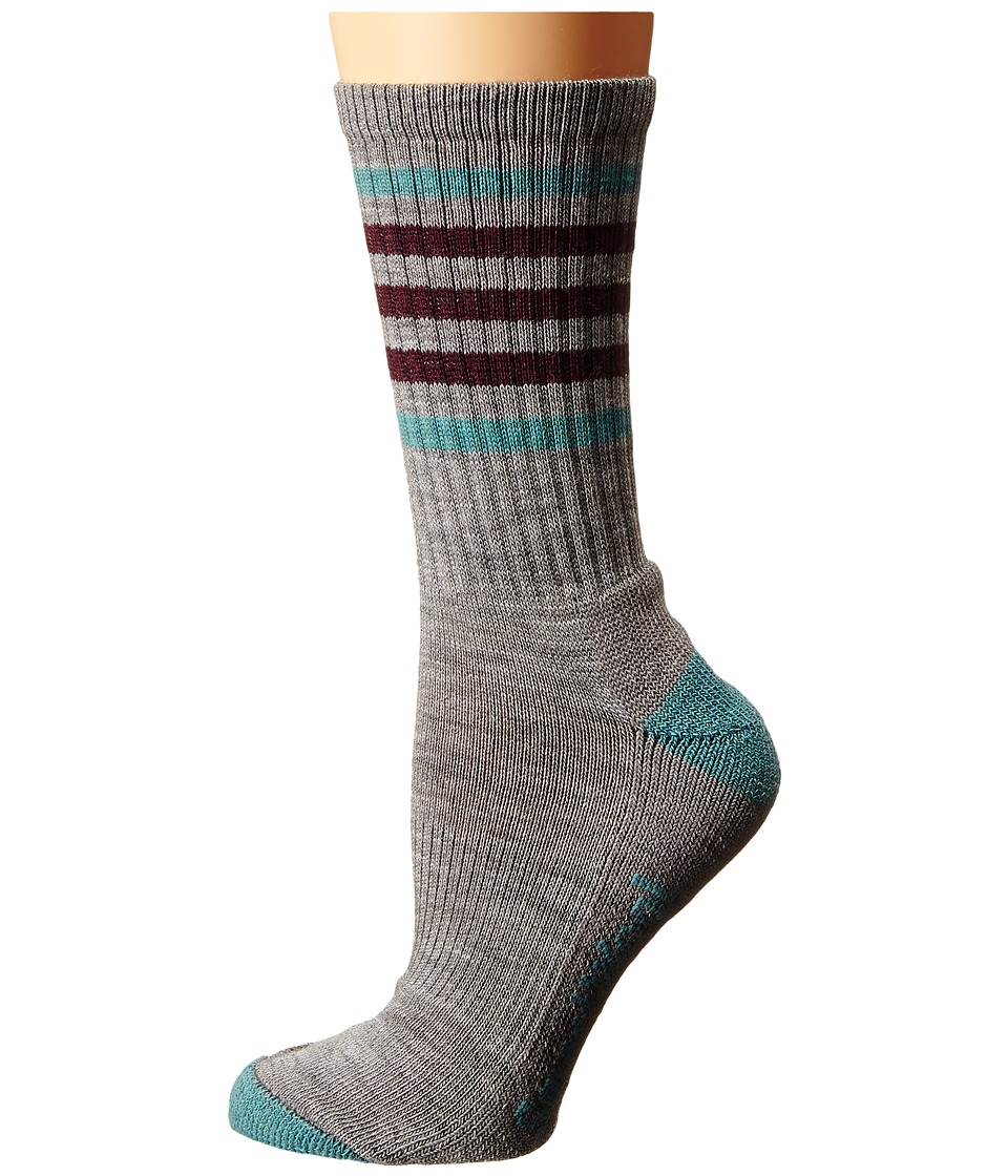 Smartwool - Striped Hike Light Crew (Light Gray/Canton) Women's Crew Cut Socks Shoes