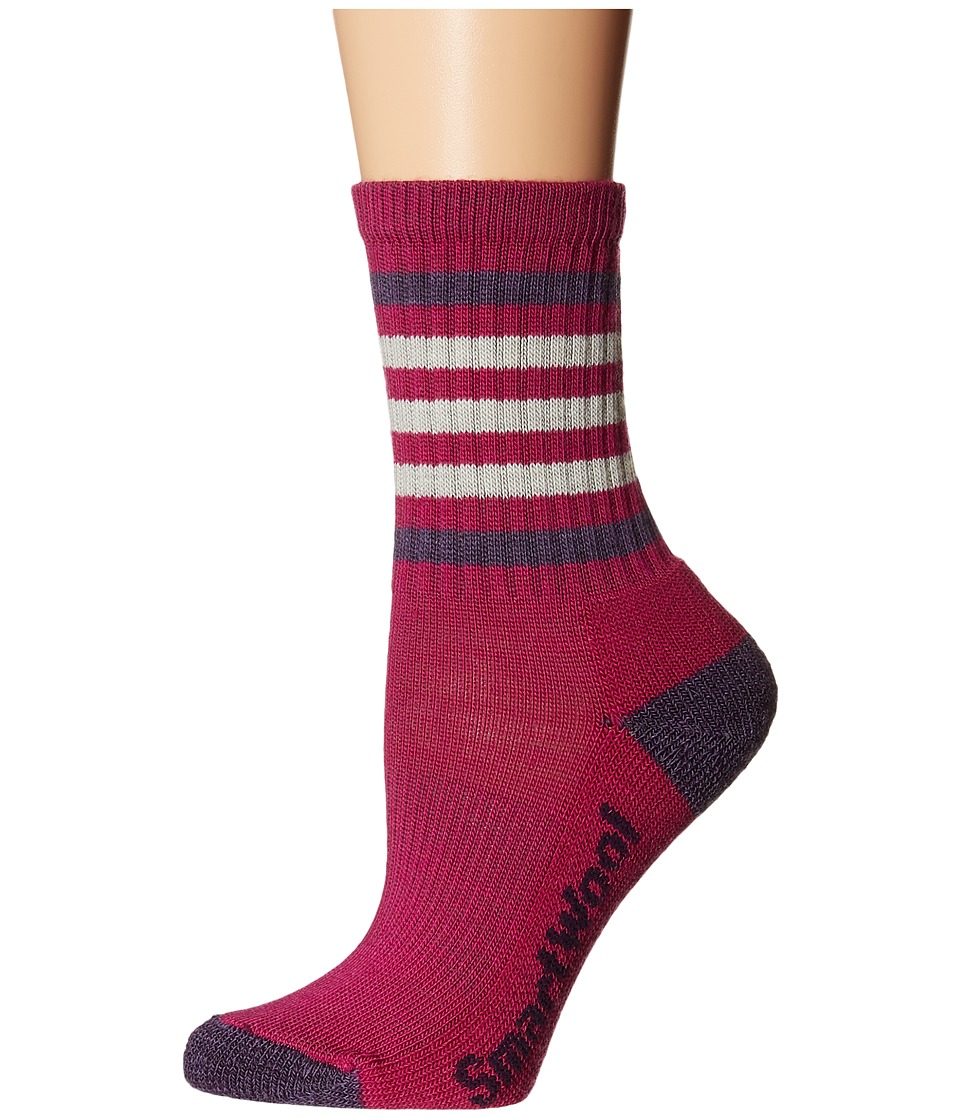 Smartwool - Striped Hike Light Crew (Berry/Desert Purple) Women's Crew Cut Socks Shoes