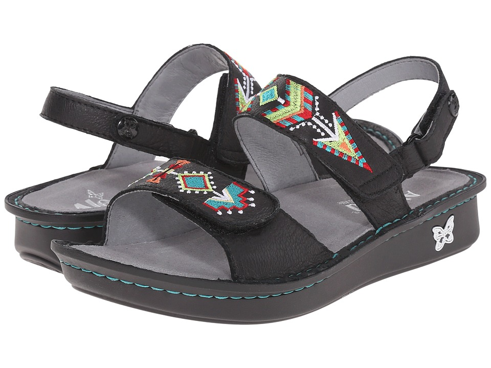 Alegria - Verona (Black Embroidery) Women's Sandals