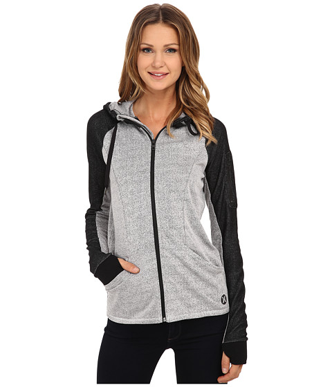 Hurley - Dri-Fit Fleece Zip Up Hoodie (Heather White) Women's Sweatshirt