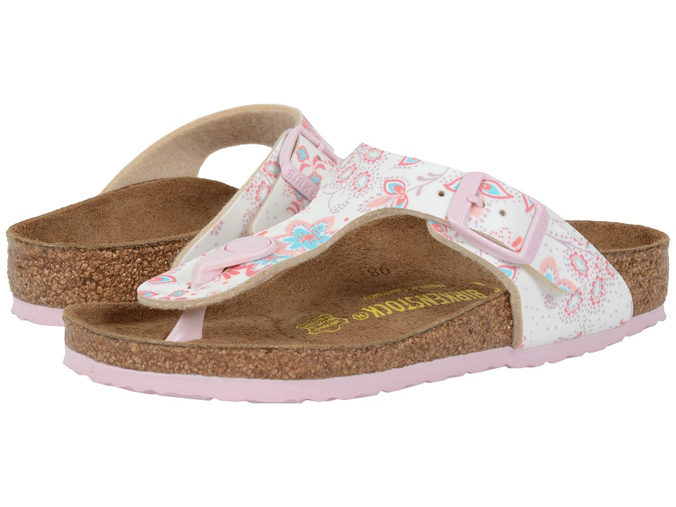 Birkenstock Kids - Gizeh (Little Kid/Big Kid) (Cute Flowers Rose Birko-Flor ) Girls Shoes