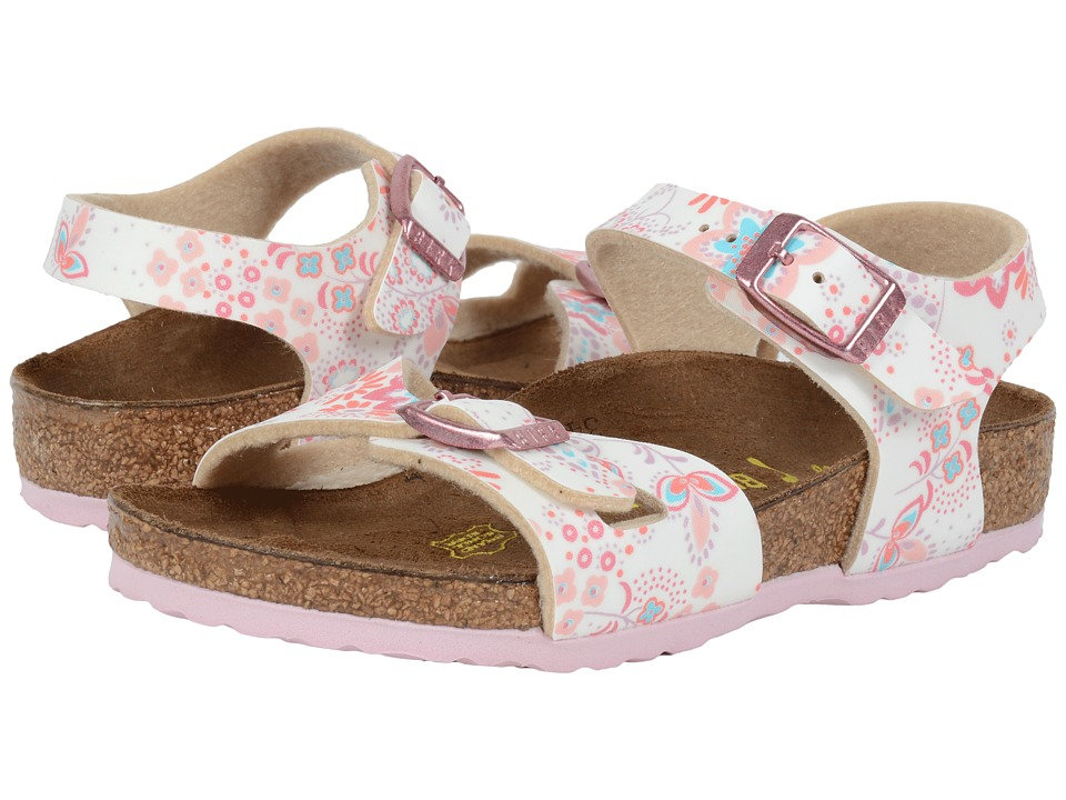 Birkenstock Kids Rio (Toddler/Little Kid/Big Kid) (Cute Flowers Rose Birko-Flor ) Girls Shoes