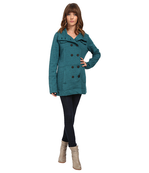 Hurley - Winchester Fleece Jacket (Heather Midnight Teal) Women's Coat