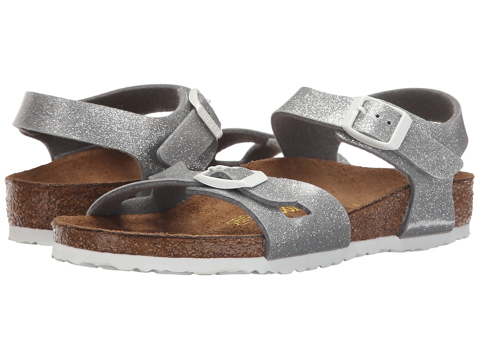 Birkenstock Kids - Rio (Toddler/Little Kid/Big Kid) (Magic Galaxy Silver Birko-Flortm) Girls Shoes