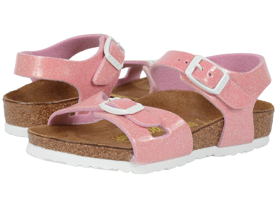 Birkenstock Kids - Rio (Toddler/Little Kid/Big Kid) (Magic Galaxy Pink Birko-Flor ) Girls Shoes