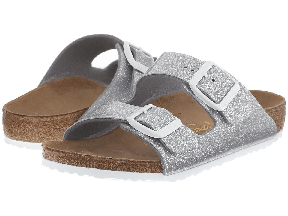 Birkenstock Kids - Arizona (Toddler/Little Kid/Big Kid) (Magic Galaxy Silver Birko-Flortm) Girls Shoes