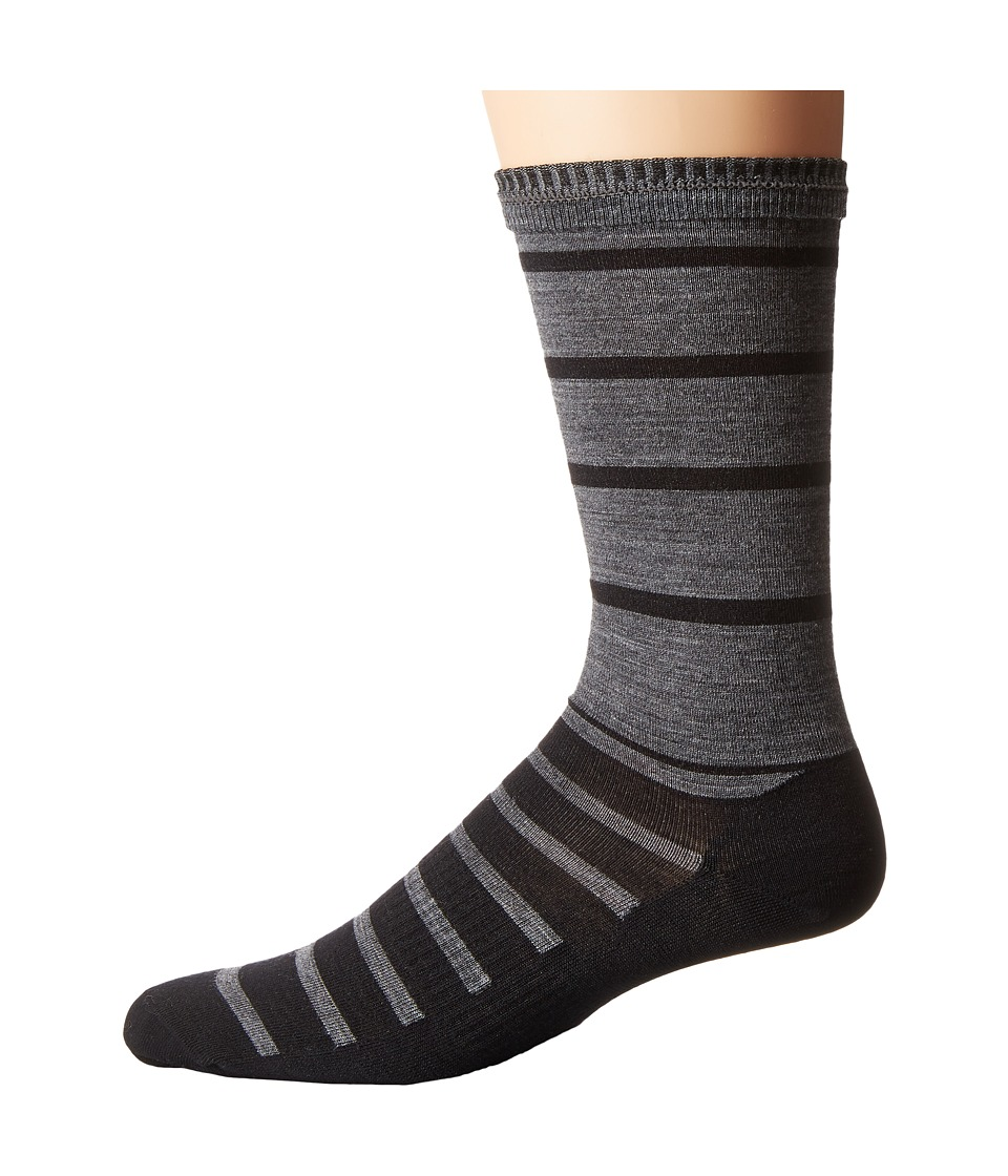 Smartwool - Divided Duo Crew (Black) Men's Crew Cut Socks Shoes