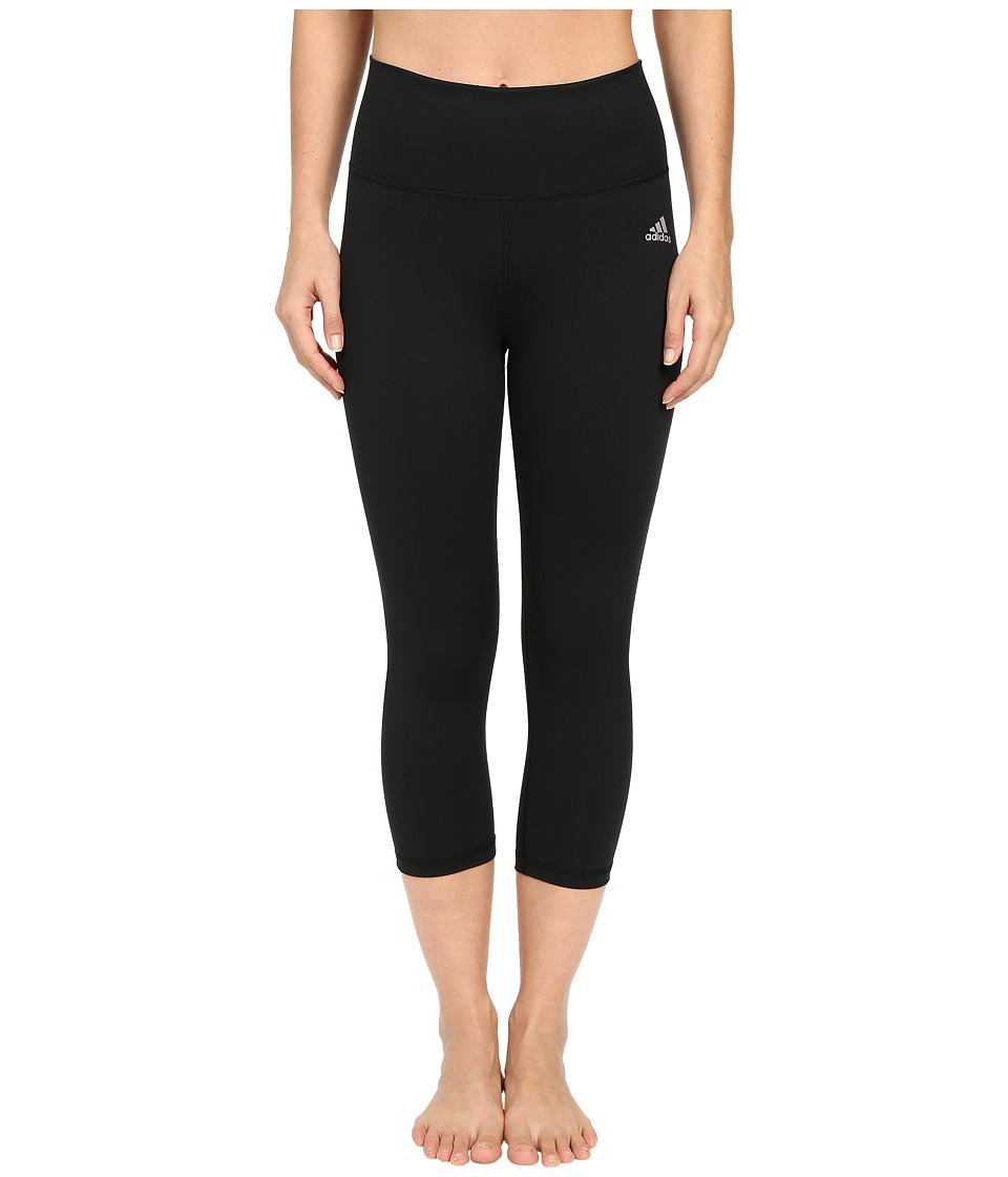 adidas - Performer High Rise 3/4 Tights (Black/Matte Silver) Women's Casual Pants