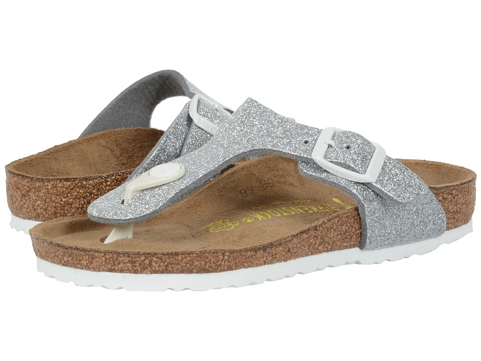 Birkenstock Kids - Gizeh (Little Kid/Big Kid) (Magic Galaxy Silver Birko-Flortm) Girls Shoes