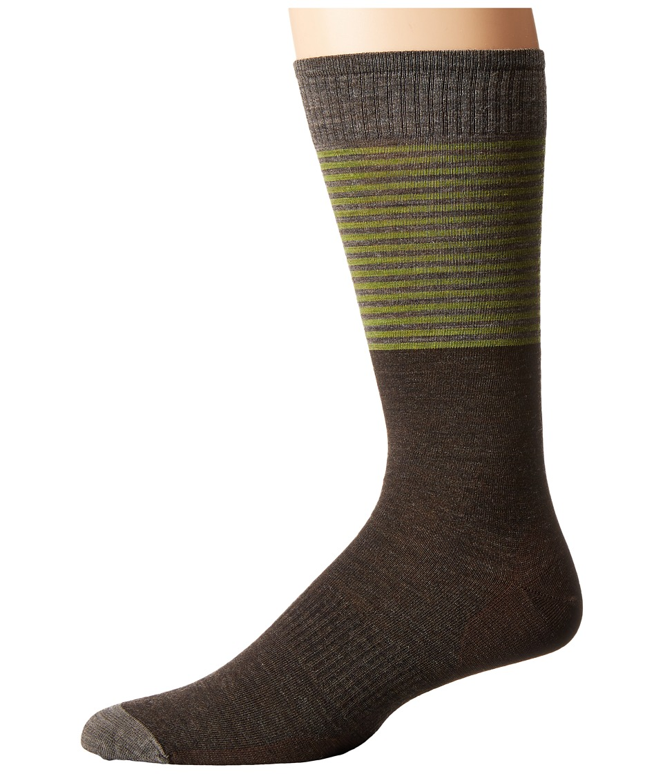 Smartwool - Tailored Stripe Crew (Chestnut) Men's Crew Cut Socks Shoes