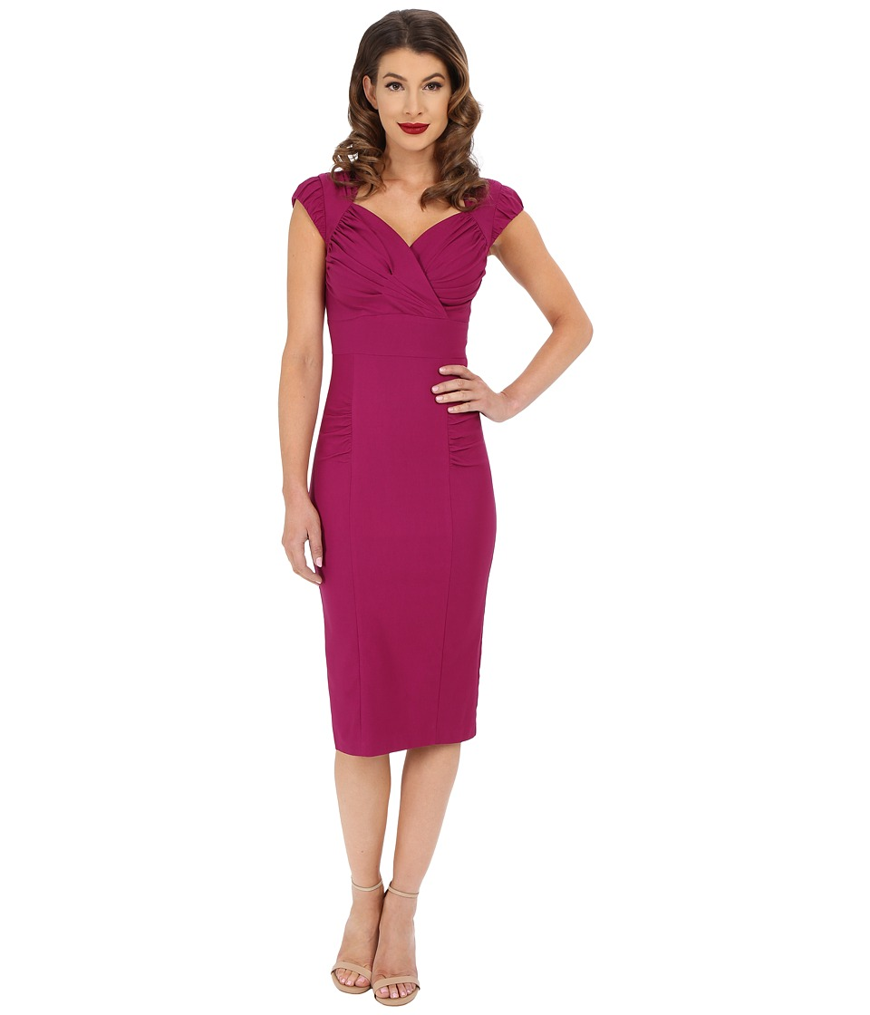 Stop Staring! - Hermosa Fitted Dress (Fuscia) Women's Dress