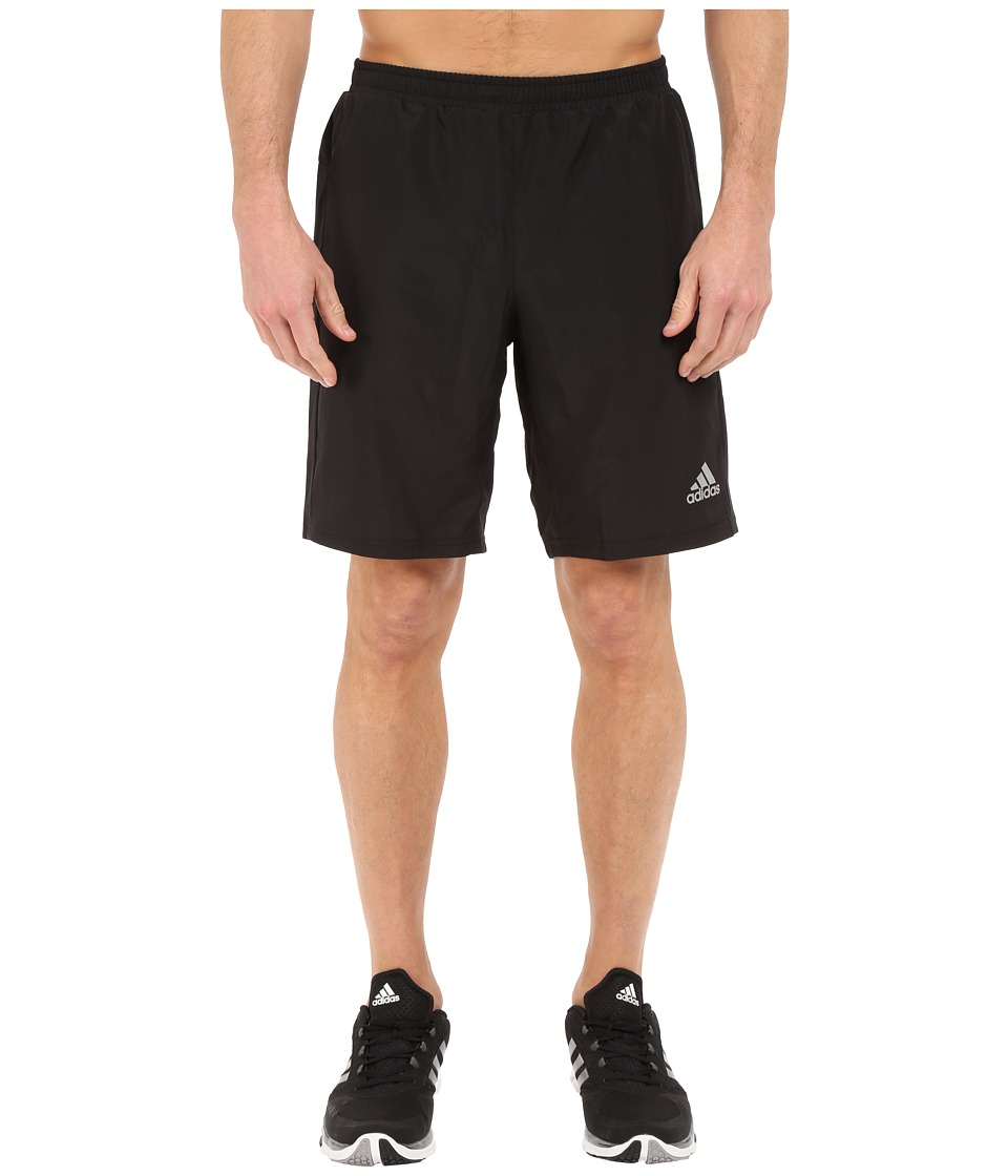 adidas - Run 9 Shorts (Black) Men's Shorts