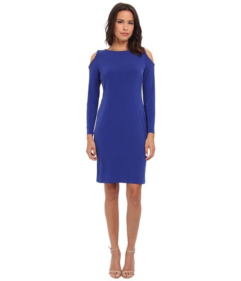 Calvin Klein - Sheath Dress w/ Cold Shoulder (Atlantis) Women's Dress