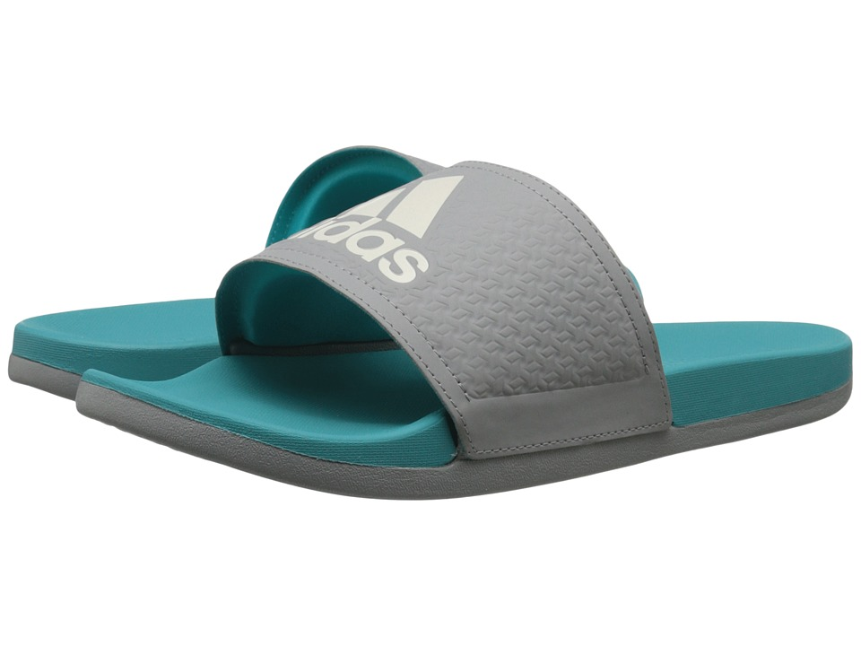 adidas - Adilette SC Plus C W (CH Solid Grey/Chalk/Frozen Green) Women's Slide Shoes