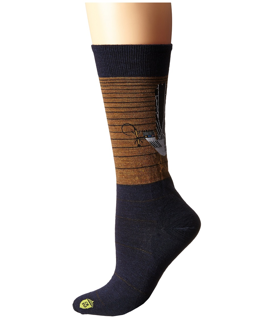 Smartwool - Charley Harper National Park Poster Roadrunner (Caramel Heather) Men's Crew Cut Socks Shoes
