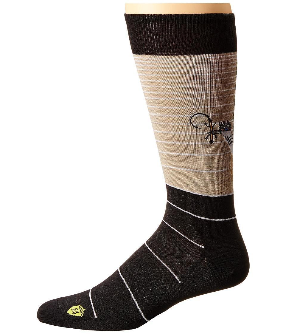 Smartwool - Charley Harper National Park Poster Roadrunner (Oatmeal Heather) Men's Crew Cut Socks Shoes