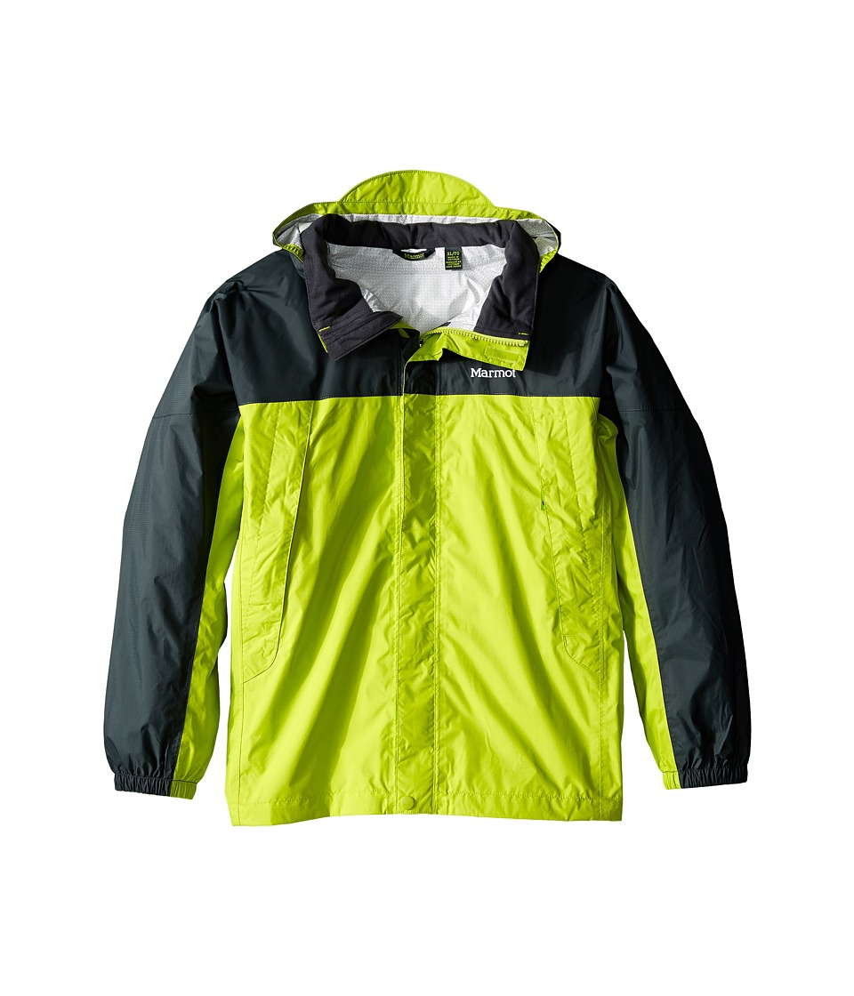 Marmot Kids - PreCip Jacket (Little Kids/Big Kids) (Bright Lichen/Dark Zinc) Boy's Coat