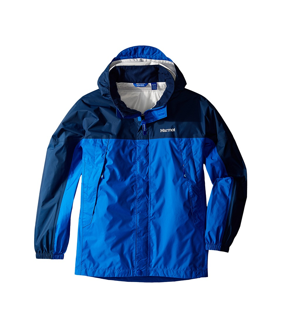 Marmot Kids - PreCip Jacket (Little Kids/Big Kids) (True Blue/Vintage Navy) Boy's Coat