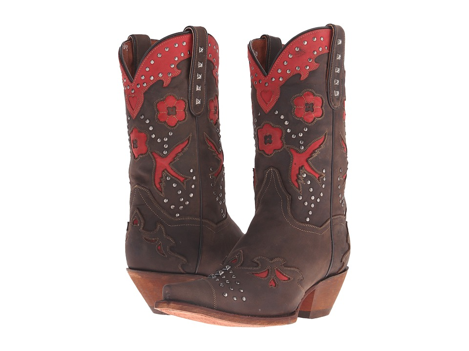 Dan Post - Wild Bird (Chocolate/Red Metal) Cowboy Boots