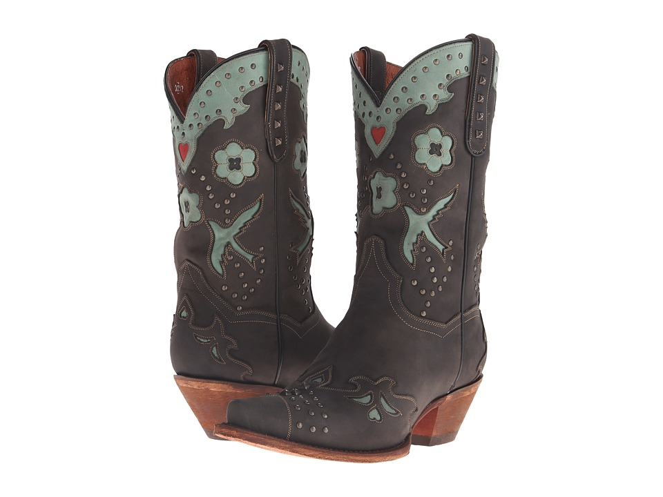 Dan Post - Wild Bird (Black/Teal Metal) Cowboy Boots