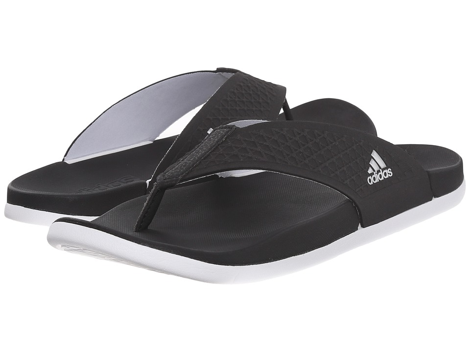 adidas - Adilette SC Plus Thong W (Black/White/Matte Silver) Women's Shoes