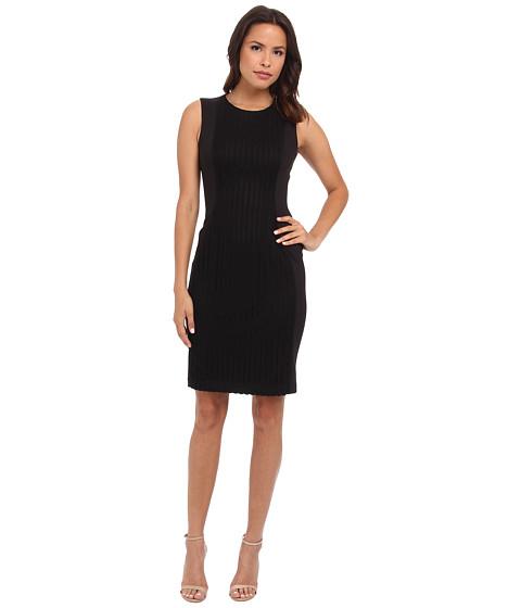 Calvin Klein - Sheath Dress w/ Novelty Panel (Black/Black) Women's Dress