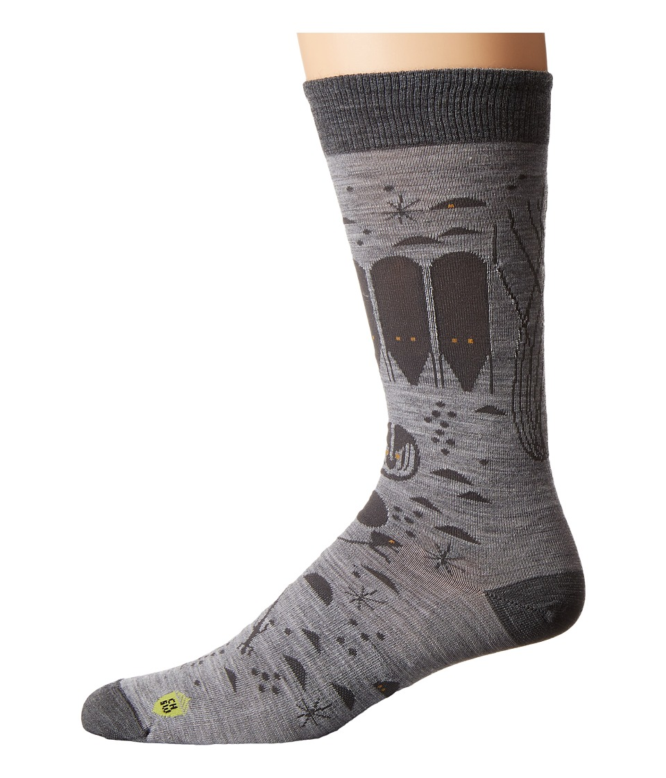 Smartwool - Charley Harper National Park Poster Night Desert (Light Gray Heather) Men's Crew Cut Socks Shoes