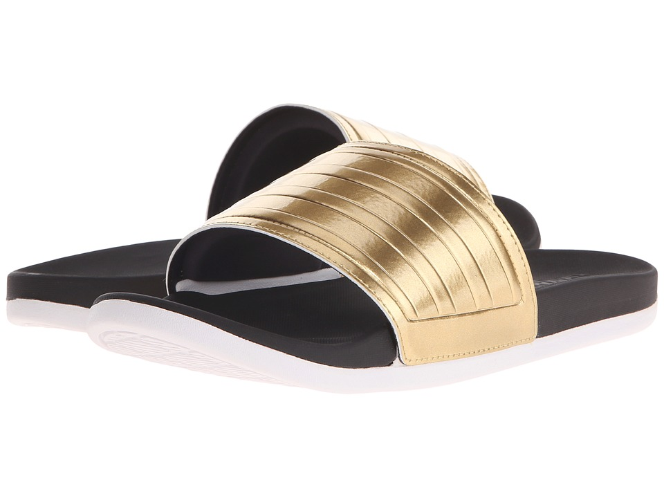 adidas - Adilette Gold (Black/Gold Metallic/White) Women's Slide Shoes