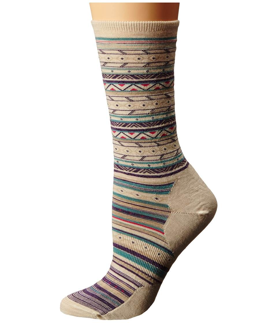 Smartwool - Ethno Graphic Crew (Natural Heather) Women's Crew Cut Socks Shoes