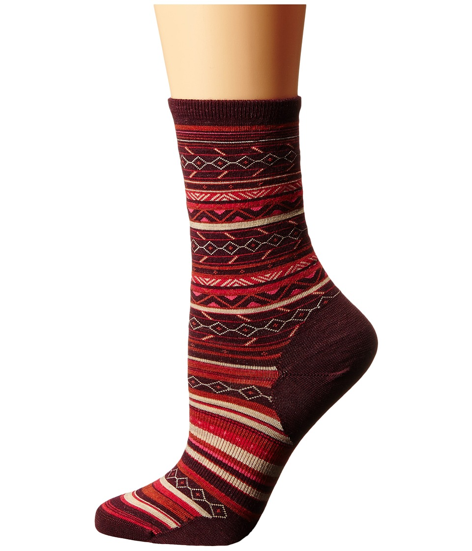 Smartwool - Ethno Graphic Crew (Moab Rust Heather) Women's Crew Cut Socks Shoes