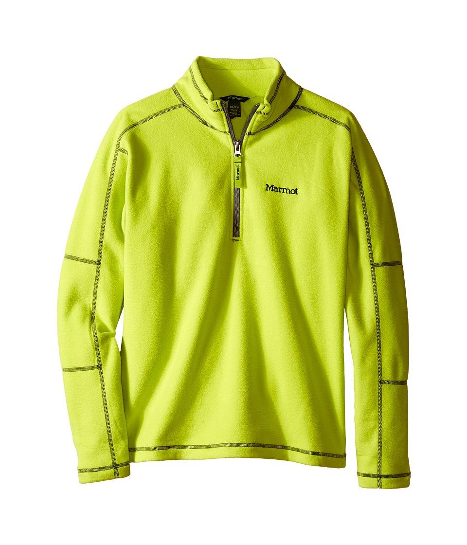 Marmot Kids - Boy's Rocklin 1/2 Zip (Little Kids/Big Kids) (Bright Lichen) Boy's Sweatshirt