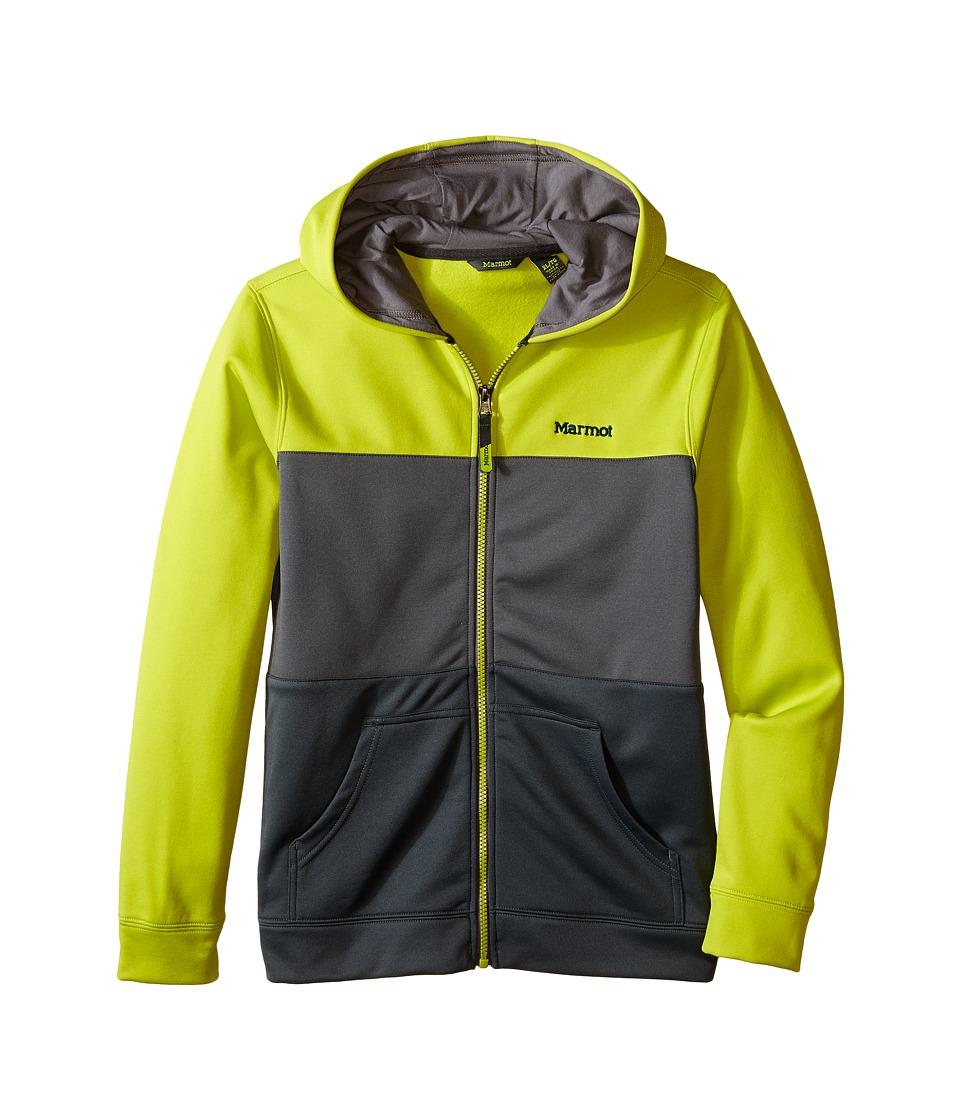 Marmot Kids - Rincon Hoodie (Little Kids/Big Kids) (Bright Lichen/Cinder) Boy's Sweatshirt