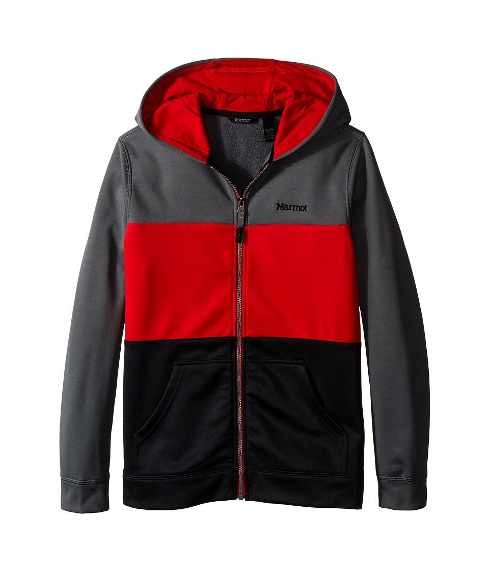 Marmot Kids - Rincon Hoodie (Little Kids/Big Kids) (Cinder/Team Red) Boy's Sweatshirt