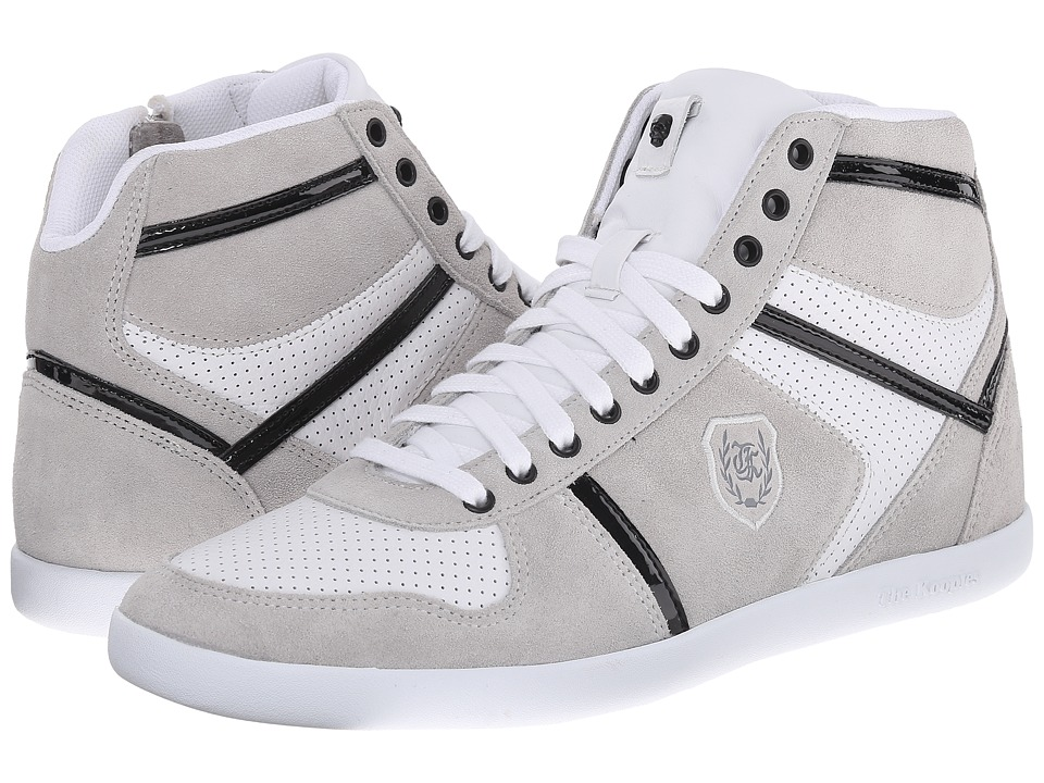 The Kooples - Sport Smooth and Split Leather Sneaker (White) Men's Lace up casual Shoes