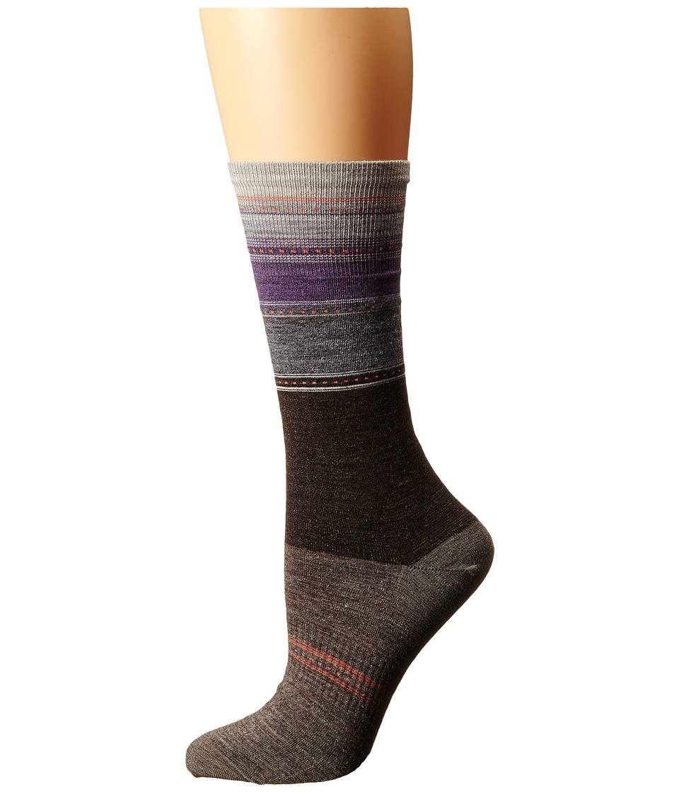 Smartwool - Sulawesi Stripe (Chestnut) Women's Crew Cut Socks Shoes