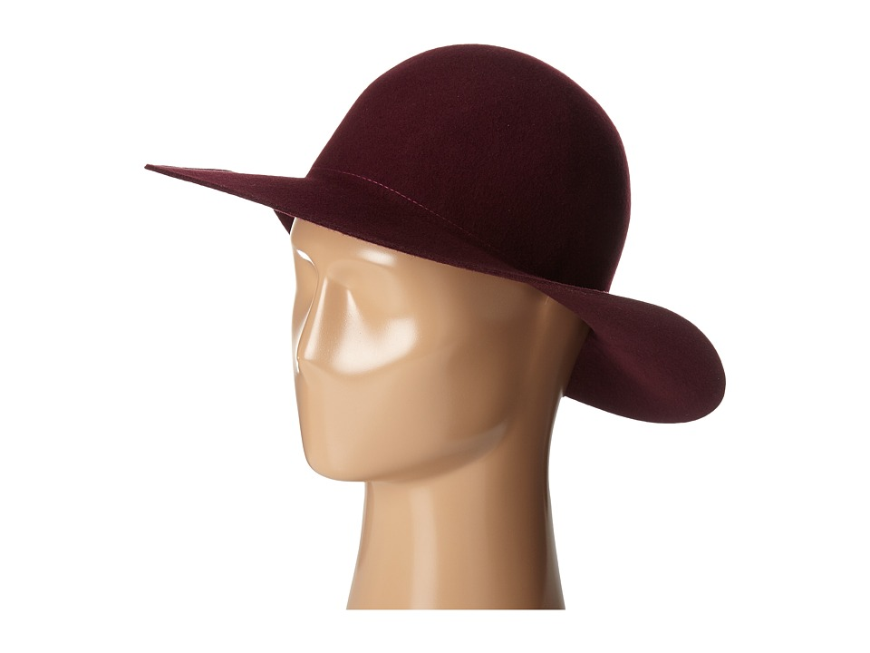 Hat Attack - Devon - Round Crown Large Brim (Burgundy) Caps