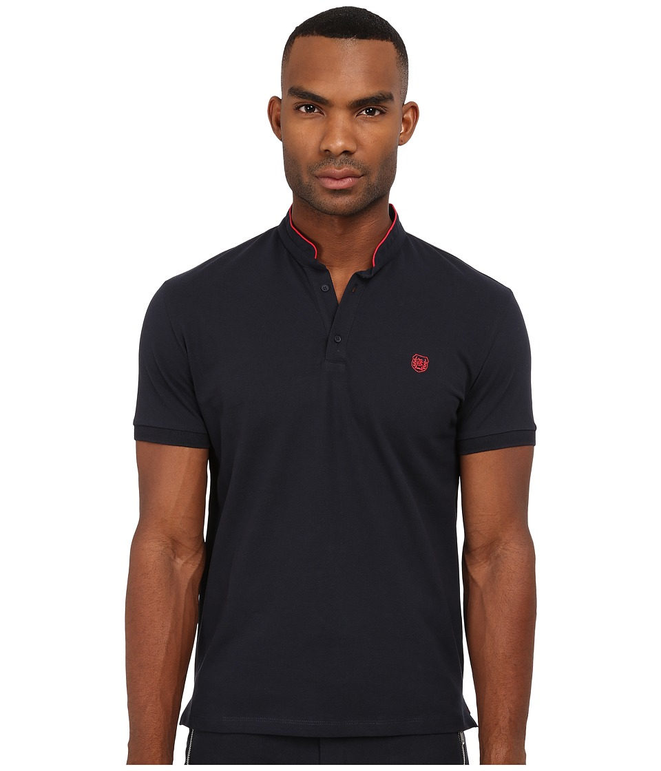The Kooples - Sport Classic Pique Polo (Navy) Men's Clothing