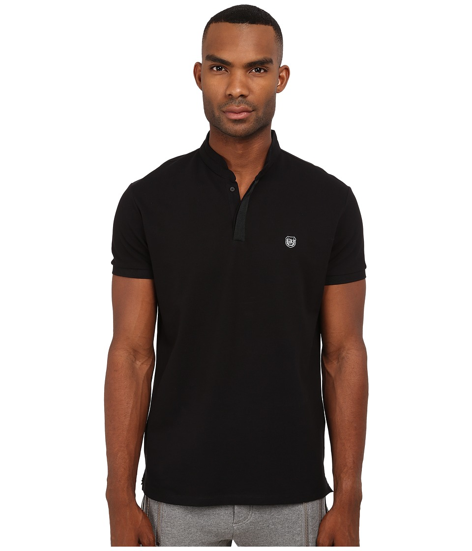 The Kooples - Sport Classic Pique Polo (Black) Men's Clothing