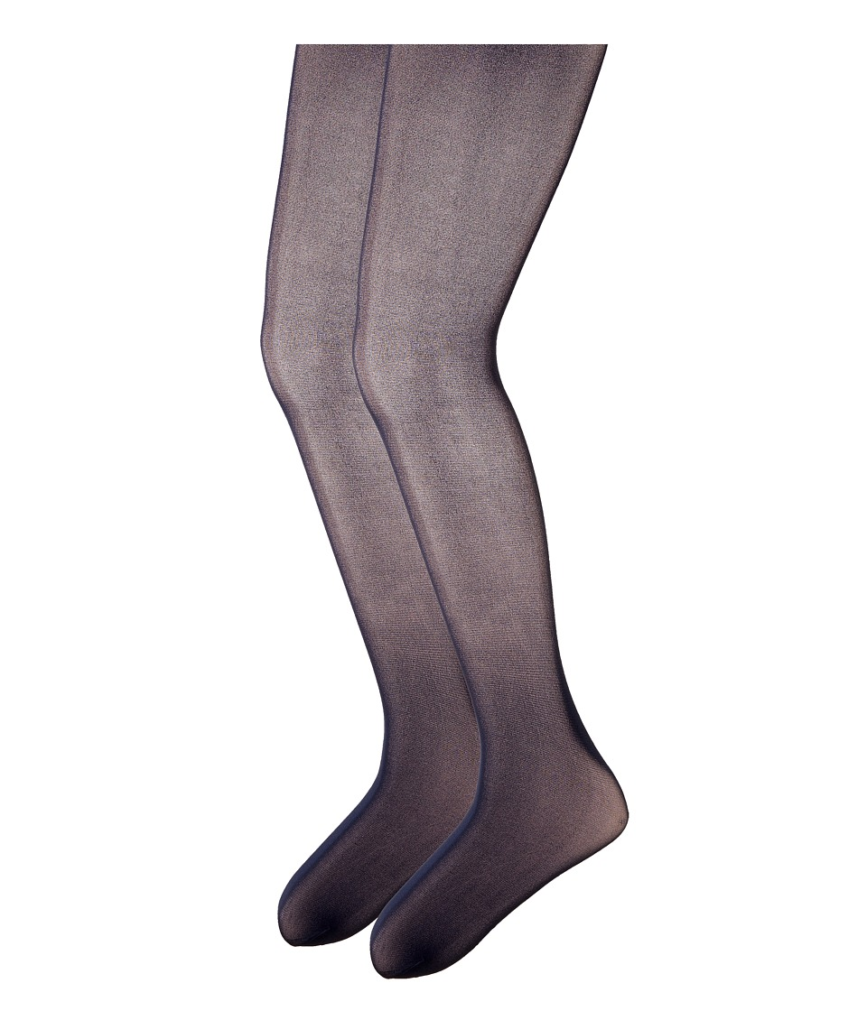 Steve Madden - 2-Pack Solid Opaque Tights (Little Kid/Big Kid) (Navy) Hose