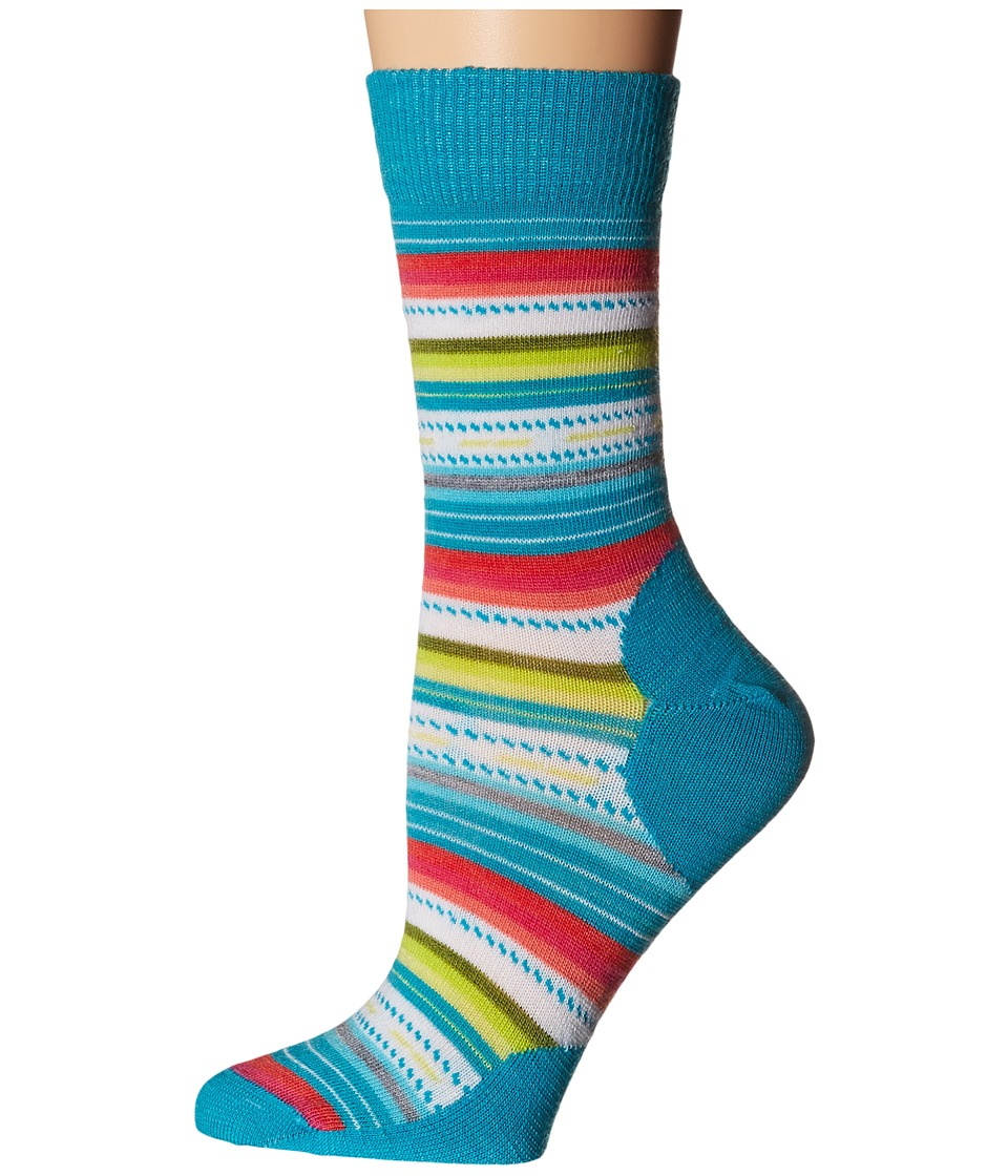 Smartwool - Margarita (Capri Blue Stripe) Women's Crew Cut Socks Shoes