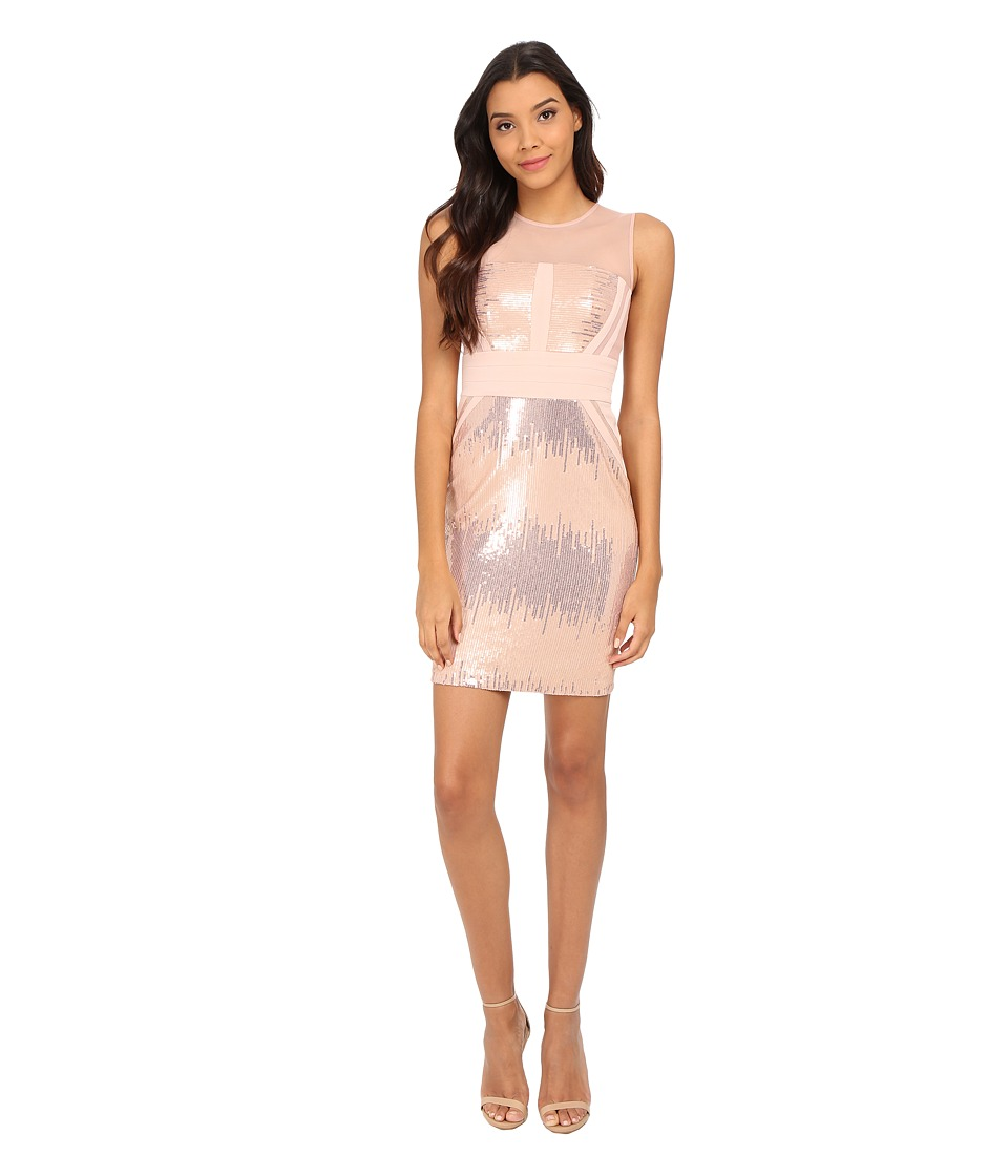Calvin Klein - Sequin Sheath Dress (Blush/Blush) Women's Dress