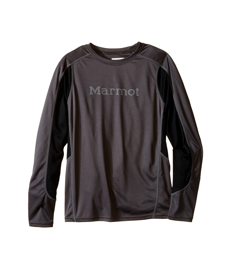 Marmot Kids - Windridge w/ Graphic L/S Top (Little Kids/Big Kids) (Slate Grey/Black) Boy's Long Sleeve Pullover