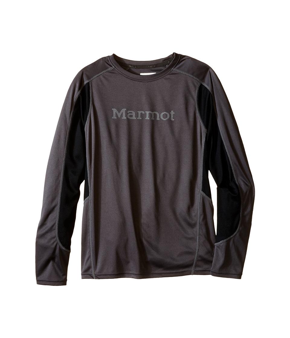 Marmot Kids - Windridge w/ Graphic L/S Top (Little Kids/Big Kids) (Slate Grey/Black) Boy's Long Sleeve Pullover