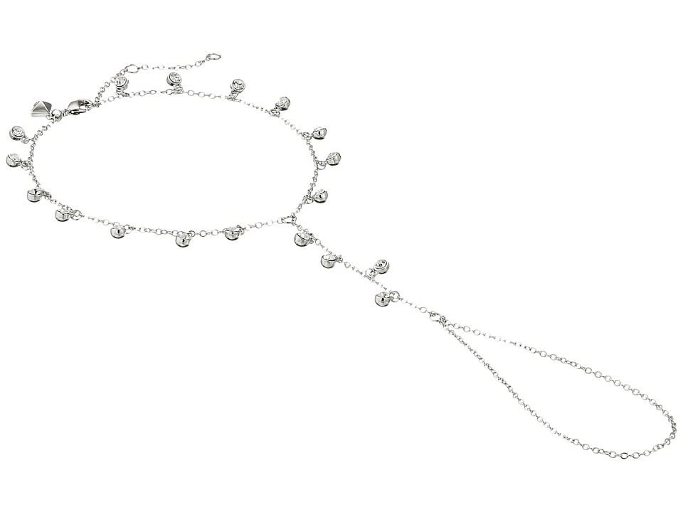 Rebecca Minkoff - Crystal Footchain (Imitation Rhodium/Crystal) Bracelet
