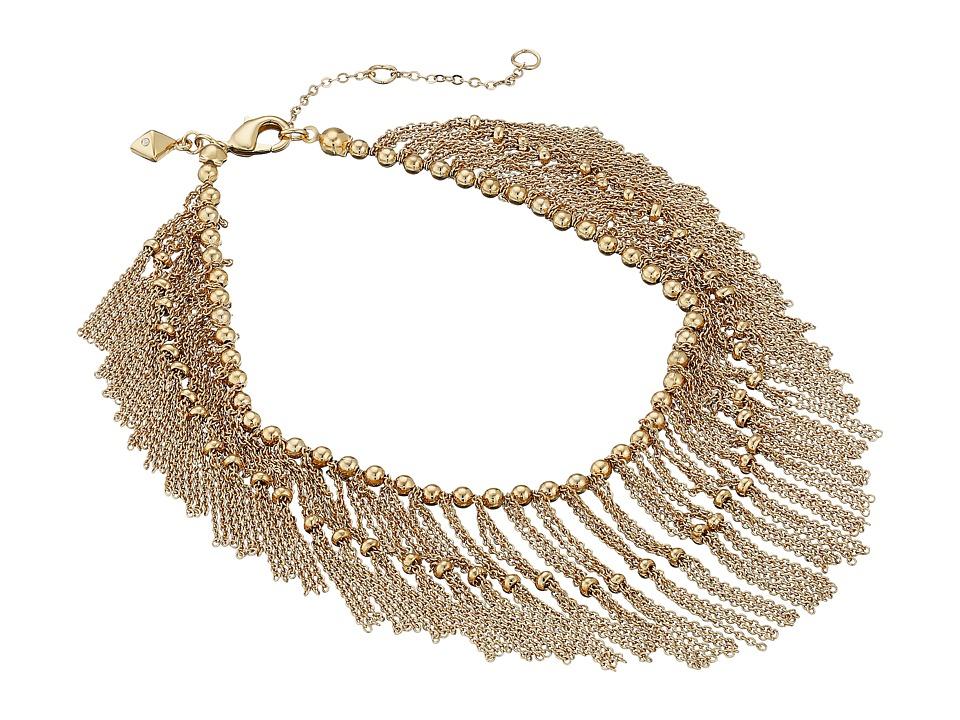 Rebecca Minkoff - Mesh Anklet (12k Gold) Bracelet